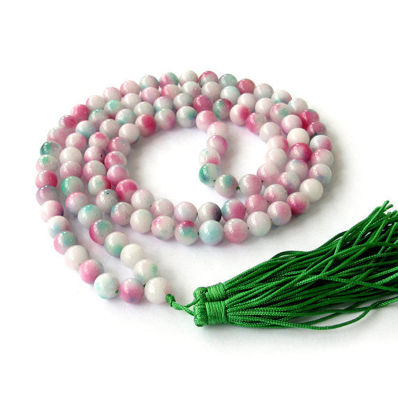 Multi-Color Stone Mala (108 Beads)