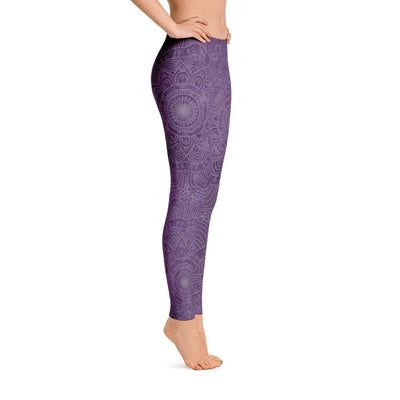 Natural Amethyst Mandala Leggings - Prana Heart: Everyday Mindfulness