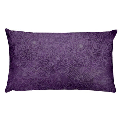 Natural Amethyst Mandala Pillow - Prana Heart: Everyday Mindfulness