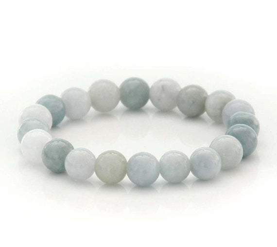Natural Jade Gemstone Charm Bracelet