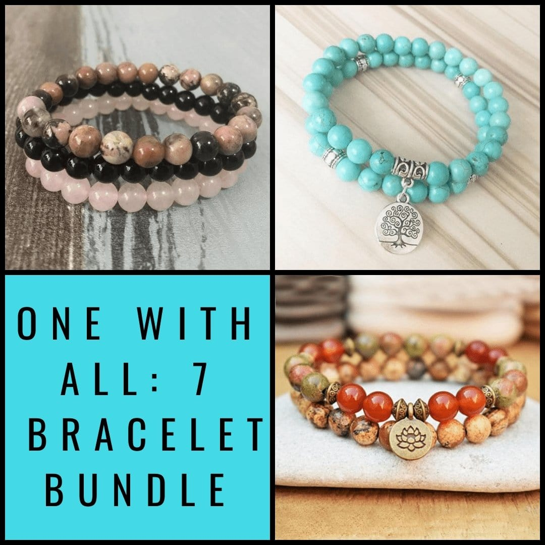 One With All 7 Bracelet Bundle - Prana Heart: Everyday Mindfulness