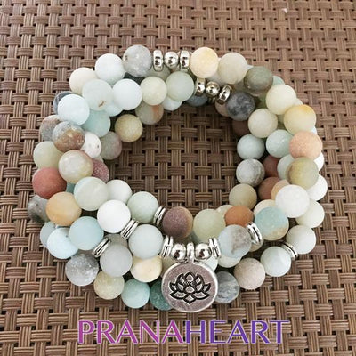 Power of the Amazon Amazonite Mala - Prana Heart: Everyday Mindfulness