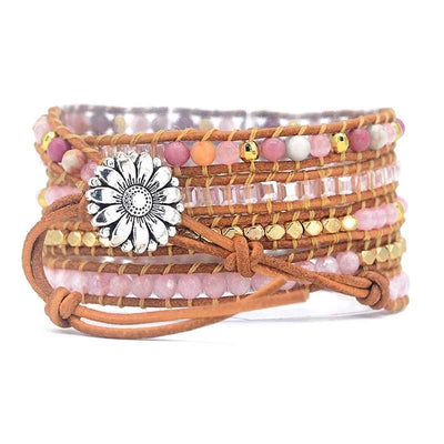 Radiant Rose Quartz Wrist Wrap - Prana Heart: Everyday Mindfulness