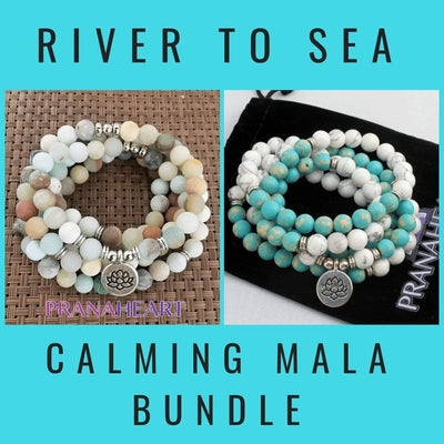 River to Sea Calming Mala Bundle - Prana Heart: Everyday Mindfulness