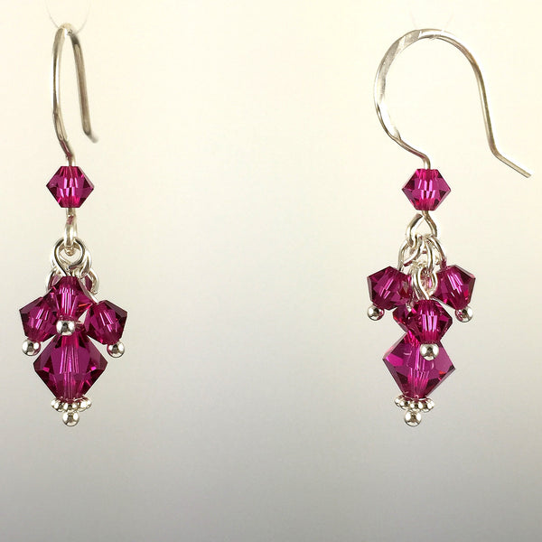 Swarovski Crystal Short Cluster Earrings - Steven James Jewelry