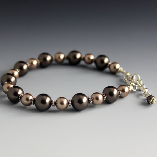 Swarovski Crystal Pearl & Sterling Silver Bracelet - Steven James Jewelry