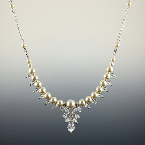 Icy Pearl Bridal Necklace - Steven James Jewelry