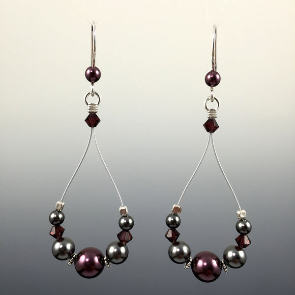 Swarovski Crystal & Sterling Silver Teardrop Earrings - Steven James Jewelry