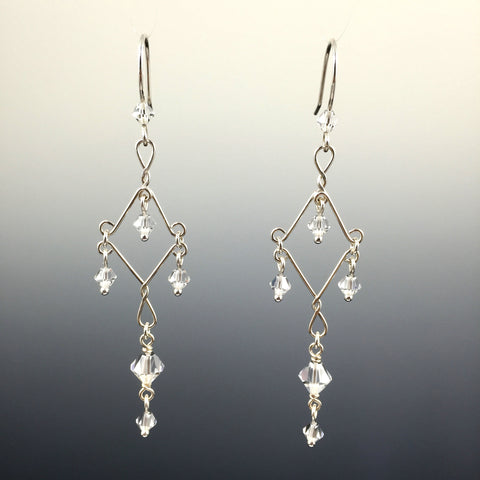 Swarovski Crystal Fancy Chandelier Earrings - Steven James Jewelry