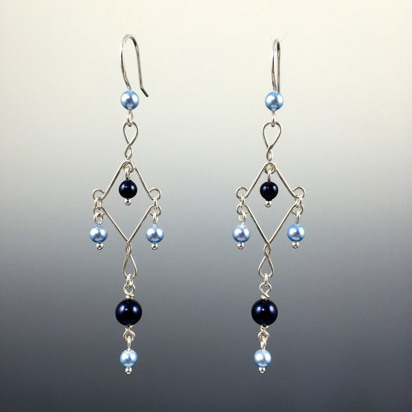 Swarovski Crystal Pearl Fancy Chandelier Earrings - Steven James Jewelry