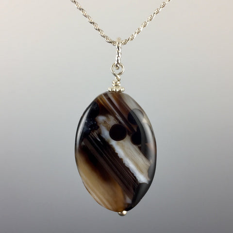 Botswana Agate & Sterling Silver Pendant - Steven James Jewelry