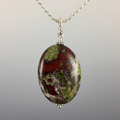 Bloodstone & Sterling Silver Pendant - Steven James Jewelry