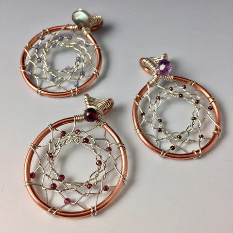 Dream Catcher Pendants - Copper & Sterling Silver - Steven James Jewelry