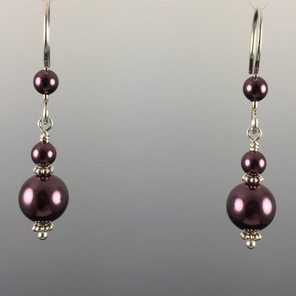 Swarovski Crystal Pearl Simple Drop Earrings - 8mm - Steven James Jewelry