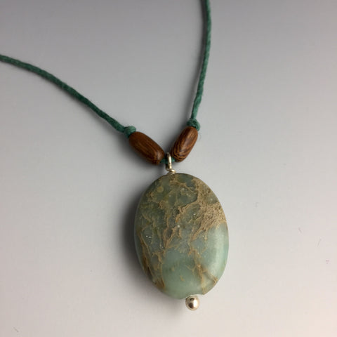 Aqua Terra Jasper Hemp Necklace - Steven James Jewelry