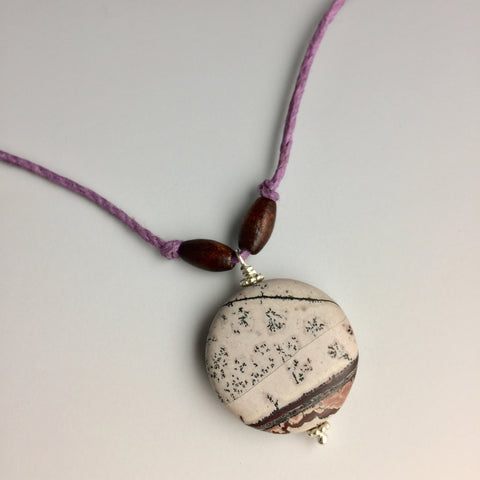 Leopard Skin Jasper Hemp Necklace - Steven James Jewelry