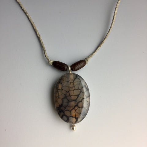 Fire Agate Hemp Necklace - Steven James Jewelry