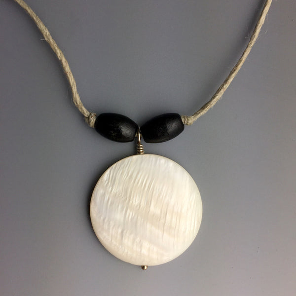 Mother of Pearl Hemp Necklace - Steven James Jewelry