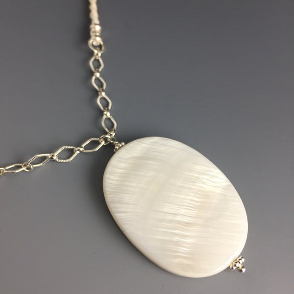 Mother of Pearl & Sterling Silver Necklace - Steven James Jewelry