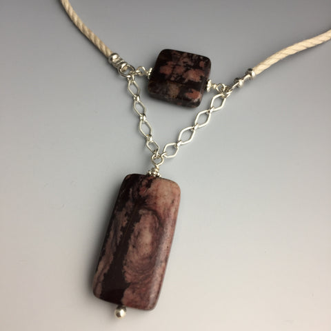 Outback Jasper & Sterling Silver Necklace - Steven James Jewelry