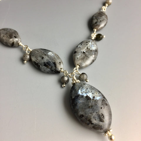 Larvikite & Sterling Silver Necklace - Steven James Jewelry