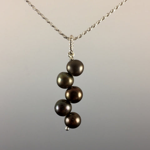 Freshwater Pearls & Sterling Silver Pendant - Steven James Jewelry