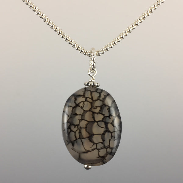 Fire Agate & Sterling Silver Pendant - Steven James Jewelry