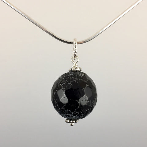 Dragon's Vein Agate & Sterling Silver Pendant - Steven James Jewelry
