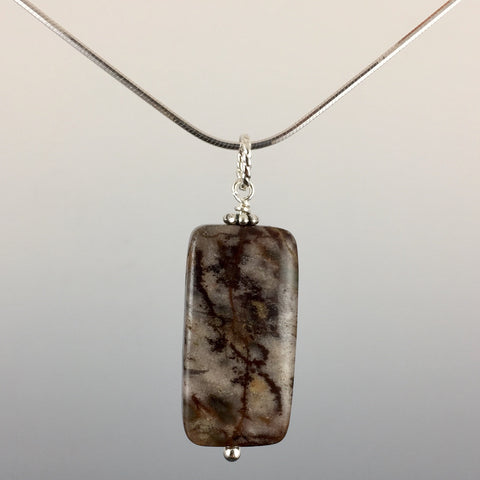 Outback Jasper & Sterling Silver Pendant - Steven James Jewelry