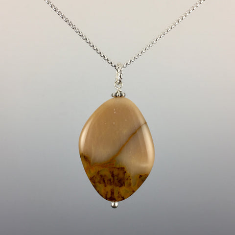 Mookite Jasper & Sterling Silver Pendant - Steven James Jewelry
