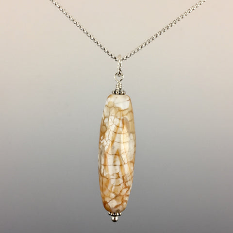 Brown Agate & Sterling Silver Pendant - Steven James Jewelry