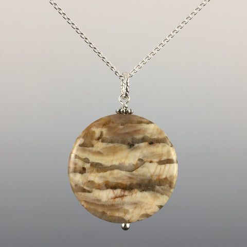 Wheat Jasper & Sterling Silver Pendant - Steven James Jewelry