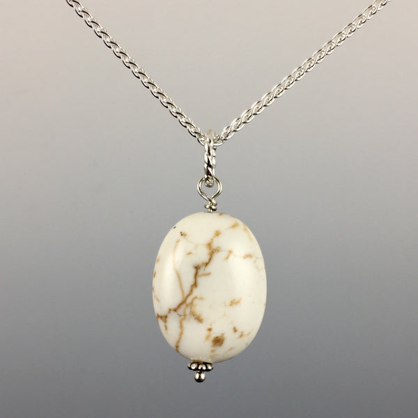 Howlite & Sterling Silver Pendant - Steven James Jewelry