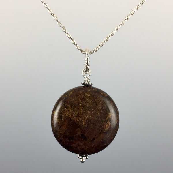 Bronzite & Sterling Silver Pendant - Steven James Jewelry