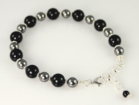Custom Crystal Pearl Bracelet - Steven James Jewelry