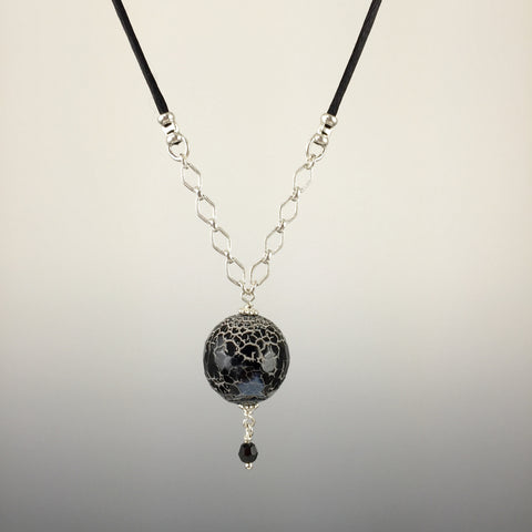 Dragon's Vein Agate & Sterling Silver Necklace - Steven James Jewelry