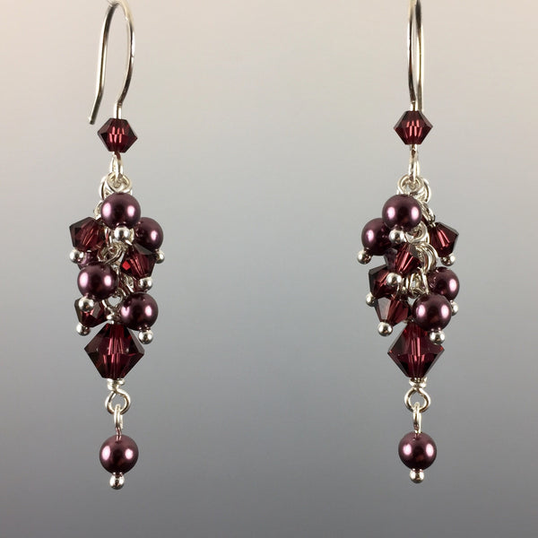 Swarovski Crystal & Sterling Silver Cluster Earrings - Steven James Jewelry