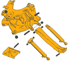 Case 580 Super K Mounting Frame & Stabilizer Parts