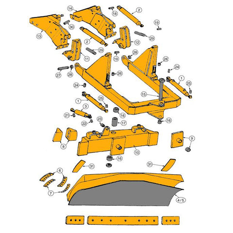 John Deere 450D & 450E Dozer Parts | HW Part Store on