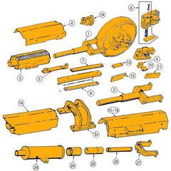 Case 1150C, 1150D, 1150E, 1155D, 1155E Track Adjuster Parts