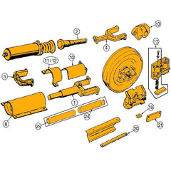 Case 850B, 850C, 855C Track Adjuster Parts