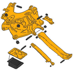 Case 580D & 580E Mounting Frame & Stabilizer Parts