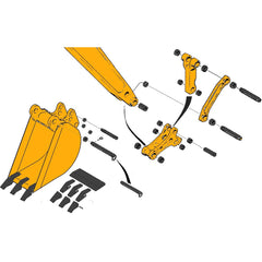 Case 580K & 580SK Backhoe Bucket Parts