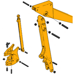 Case 580D & 580E Boom & Swing Tower Parts