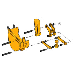 John Deere 300D, 310C, 310D Backhoe Bucket Parts