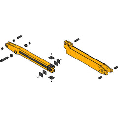 Case 580L & 580M Extendable Dipper Parts