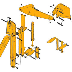 Case 580E Backhoe Dipper & Bucket Parts