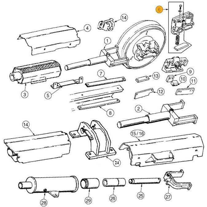 Case 1150B Idler Wear Kit - 6 | HW Part Store
