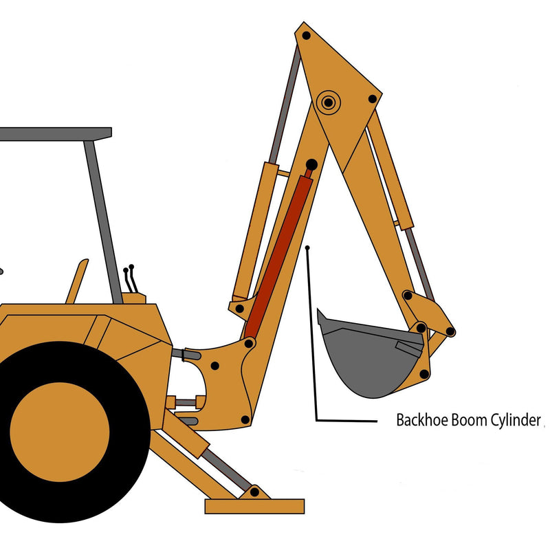 Case 580B, 580C, 580D, 580SD, 580E, 580SE Backhoe Boom Cylinder | HW Part Store