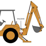 Case 580CK Backhoe Swing Cylinder - Type 1 Full Seal Kit | HW Part Store